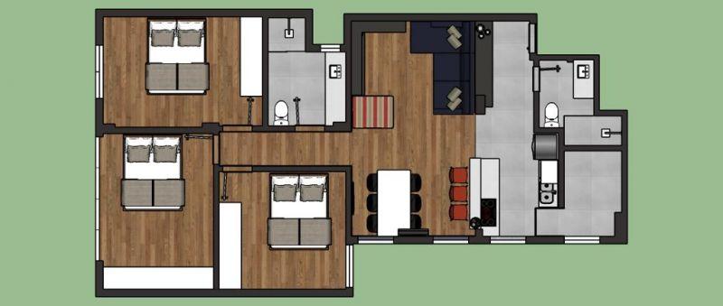 Apto 3 quartos, 98 m²  no bairro CENTRO em PORTO ALEGRE/RS - Loja Imobiliária o seu portal de imóveis para alugar, aluguel e locação